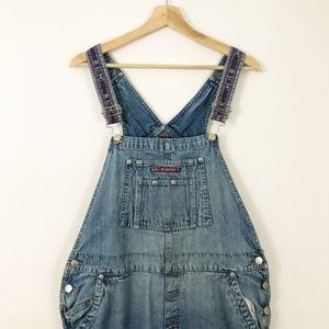 VTG 90's BUM Equipment Embroidered Strap Overalls